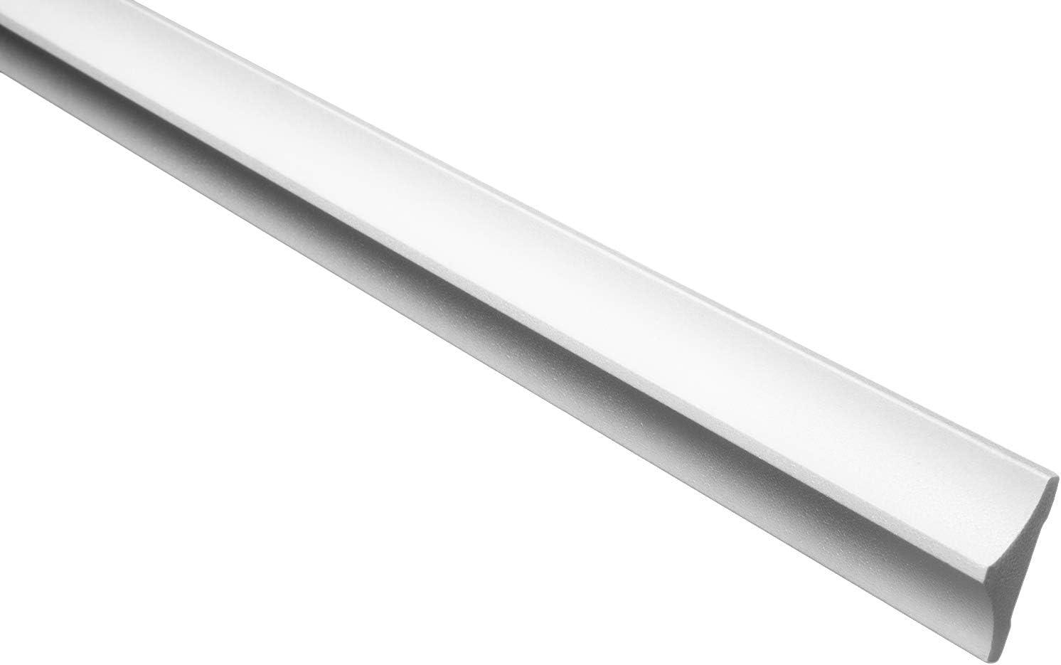 2 Meter 103 x 103 mm leichte und stabile Profile f/ür Decken-// und Wand/übergang Stuckleisten aus Styropor modern dekorativ gro/ße Auswahl B-27 wei/ß