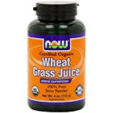 Now Foods Organic Wheat Grass Juice Powder, 4-Ounce