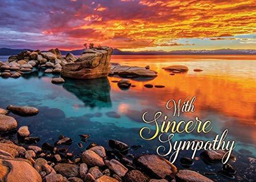Sunset Shores - Sympathy Greeting Cards - KJV Scripture - (Box of 12)