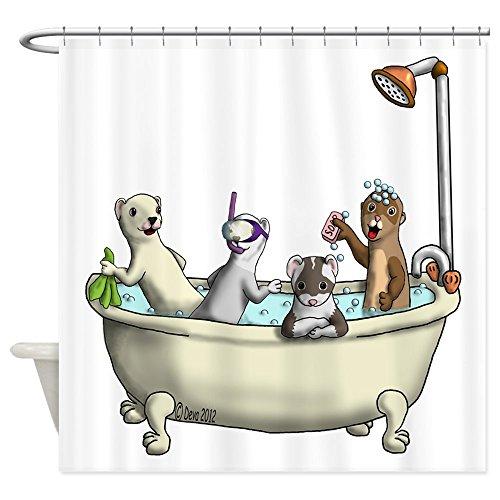 (CafePress Rub A Dub Tub Decorative Fabric Shower Curtain (69