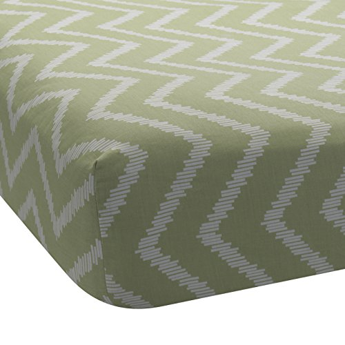 Lambs & Ivy Giraffe Collection Fitted Sheet, Chevron