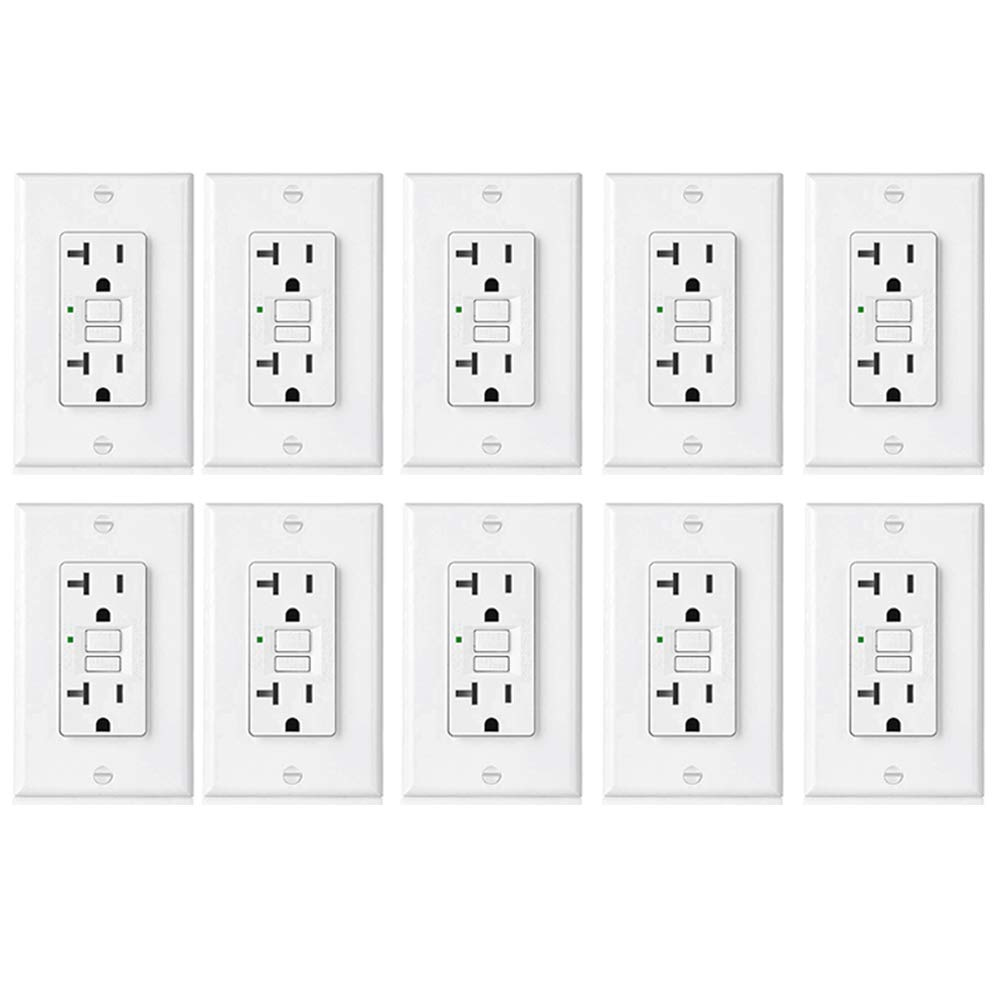 Portable Ground Fault Circuit Interrupter W Four 15 A Breaker Best Rated In Outlets Helpful 10 Pack Bestten 20 Amp Gfci Slim Gfi Receptacles With Led