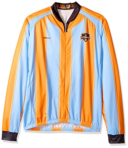 VOmax MLS Houston Dynamo Men's Secondary Short Sleeve Cycling Jersey, XX-Large, (Houston Cycling Jersey)