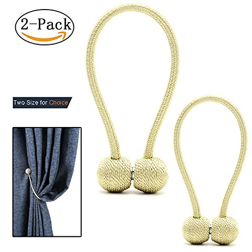 YMQY 2 pack Curtain Tiebacks magnetic