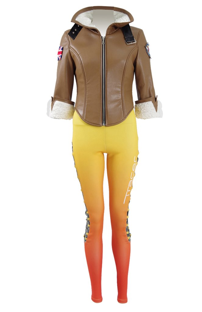 Xiao Maomi Womens Battle Suits Jacket and Pants Cosplay Costume Full Set (Woman-M, Brown) by Xiao Maomi