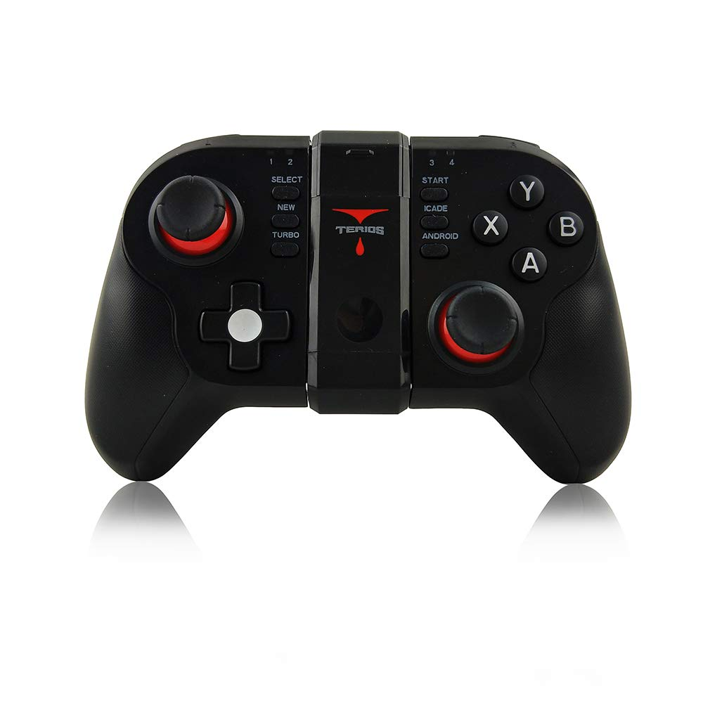ZOMTOP S6 Wireless Bluetooth Gamepad Vibration Joystick Gaming Controller fü r Android Smartphone PC TV mit Halter