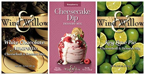 Chocolate Raspberry Cheesecake (Wind & Willow Sweet Cheeseball and Dessert Mix Bundle (3 Pack): Raspberry Cheesecake, Key Lime Pie, and White Chocolate Amaretto)