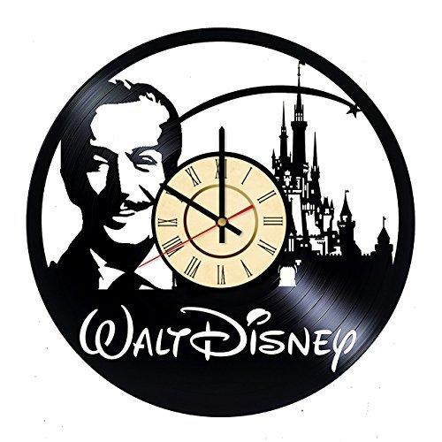 Fun Door Walt Disney World Handmade Vinyl Record Wall Clock for Birthday Wedding Anniversary Valentine's Mother's Ideas for Men and Women him and her ... -