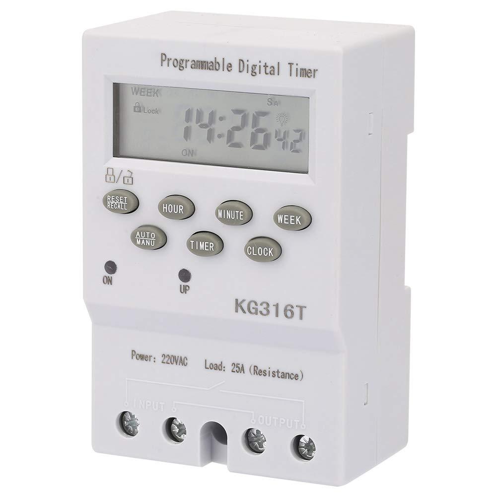 Interruttore timer digitale automatico 220V Microcomputer Interruttore orario KG316T Interruttore elettronico 220v KG316T Interruttore orario programmabile