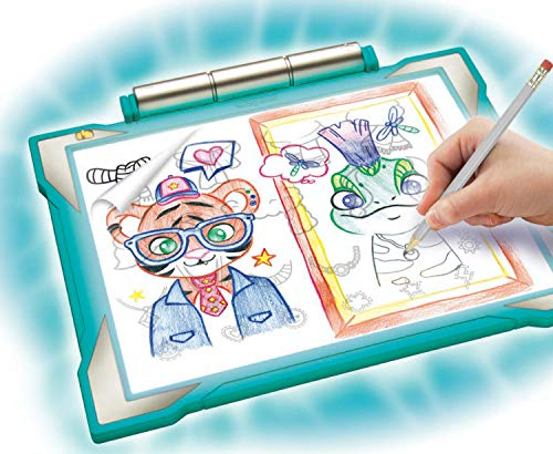 10 Ages 6 9 Coloring Board For Kids Crayola Light Up Tracing Pad Teal 8 7