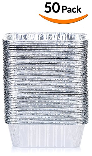 "DOBI Mini Loaf Baking Pans - Disposable Aluminum Foil small Bread Tins, 6"" X 3.5"" X 2"" (Pack of 50)"