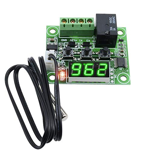 A/c Temperature Switch - Lheng DC 12V -50-110°C W1209 Digital Green LED Display Thermostat Temperature Control Switch with NTC Sensor
