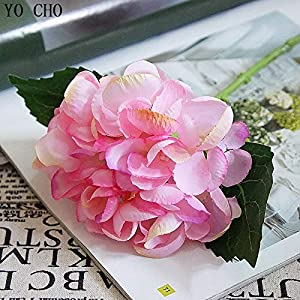 ShineBear Artificial Flowers Hydrangea Silk Mini Sweet Pea Flower dekor Plant Bouquet Fake Flowers Garden Decor for Home Crafting 1