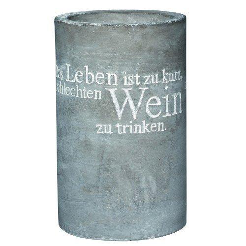 P.e.T. Vino Beton Weinkühler Das Leben ist zu kurz.ca 21cm