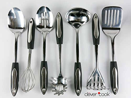 Clever Cook  Piece Stainless Steel Set Of Kitchen Utensils