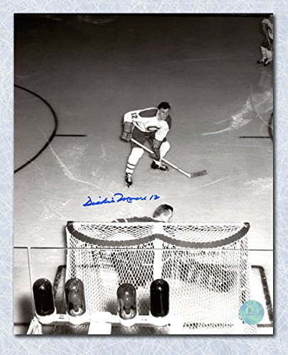 Autograph Authentic MOOD105024 Dickie Moore Montreal Canadiens Autographed Overhead vs Bower 8 x 10 in. (Dickie Bow)