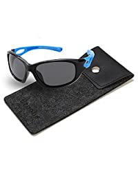 Brooben Kids Sports Style Polarized Sunglasses Rubber Flexible Frame S8186