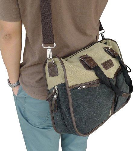 Otium 20319F Canvas Messenger Bag,Perfect Fit Laptop Bags, Khaki
