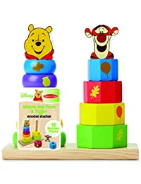 Melissa & Doug Disney Baby Winnie the Pooh and Tigger Wooden Stacker Toy (12 pcs) BOBEBE Online Baby Store From New York to Miami and Los Angeles