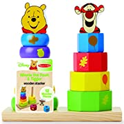 Melissa & Doug Disney Baby Winnie the Pooh and Tigger Wooden Stacker Toy (12 pcs)