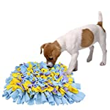 KYC Dog Snuffle Mat Pet Nosework Slow Feeding Training Play Puppy Cat Interactive Puzzle Toys Funny Foldable Blanket,Blue&Purple