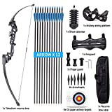 SXIYA Archery Recurve Bow, Takedown Recurve Bow with Arrow Sets for Adult, 40 lbs Right Hand Archery Hunting Long Bow Kit