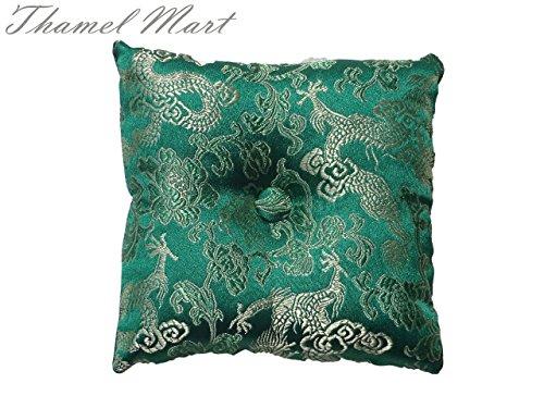 Tibetan Satin Singing Cushion Green product image