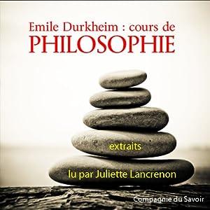 Cours de philosophie Audiobook