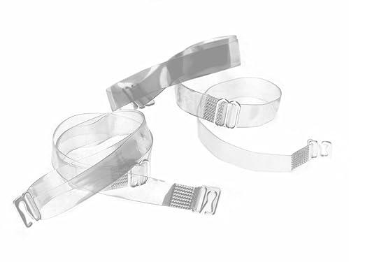 Tirantes para sujetador, transparente, Cierre de metal, silicona: Amazon.es: Ropa y accesorios
