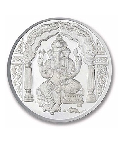 Ganesh Pure Silver 999 Religious Coin 10 Gms Beautiful Design Bappa Ganpati Gift