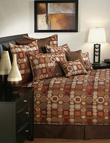 Sherry Kline Metro 4 Piece Comforter Set, Queen, Spice