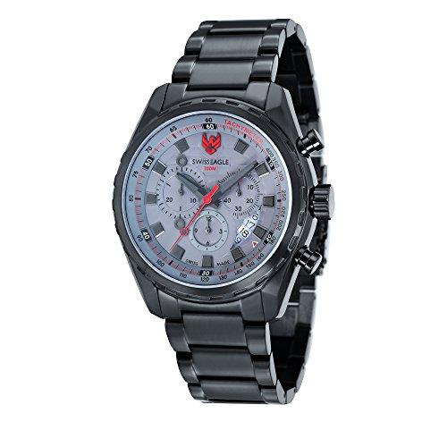 Swiss Eagle Men's SE-9062-66 Engineer Analog Display Swiss Quartz Black Watch