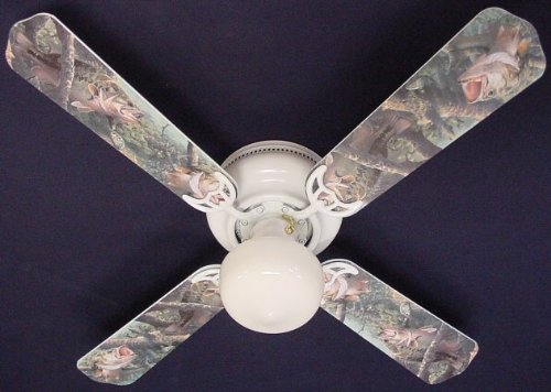 Ceiling Fan Designers Ceiling Fan, Large Mouth Bass Fish, (Designer Large Fan)
