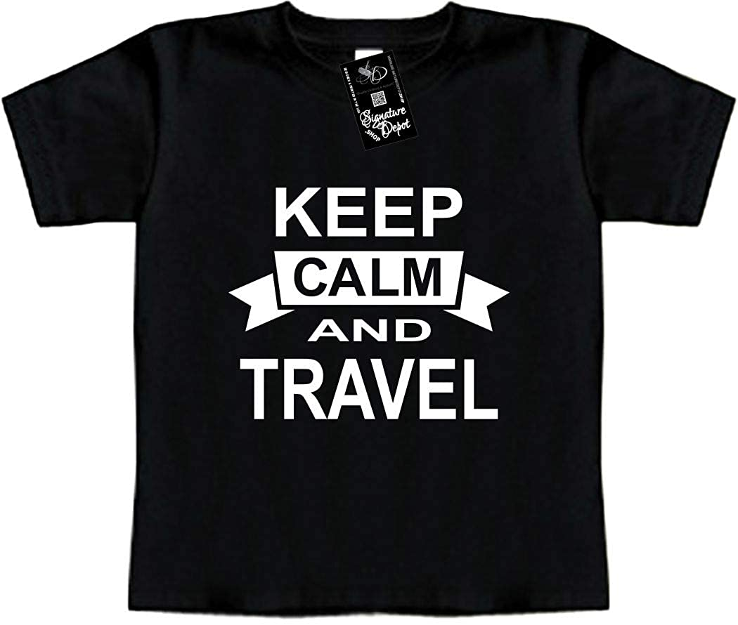 Vacation Toddler Tee Keep Calm and Travel Signature Depot Funny Baby T-Shirt