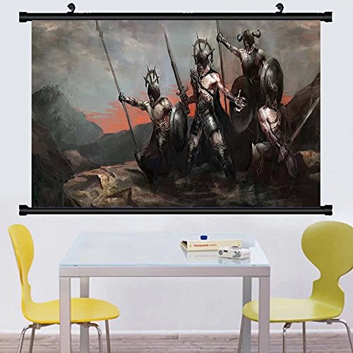 Gzhihine Wall Scroll Fantasy World Decor Wall Hanging Genera