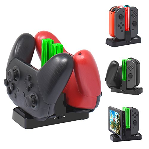 [New Version] Charger for Nintendo Switch Pro Controllers and Joy-Cons,Charging Stand for Nintendo Switch with 2 Type-C USB Ports and 1 Type-C USB Charger Cable Review