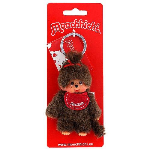 Monchhichi 10 cm Twin Tail Girl ca. Keyring (Multi-Colour)