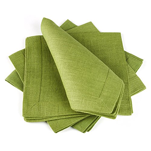 European Linen Fabric (Linen Cloth Table Napkins — Soft and Durable — Set of 4, 16