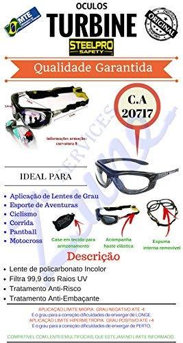 Óculos de Segurança - Turbine com Lente Incolor-STEEL PRO-656358   Amazon.com.br  Ferramentas e Construção deecfc05ad