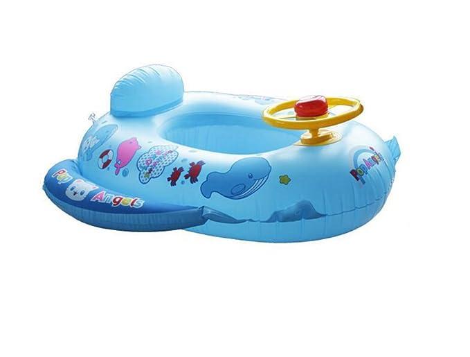 QHYK Dolphin en forma de bebé asiento de natación inflable(Azul ...