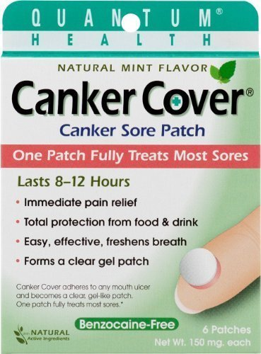 Oral Patch Cover Canker - Quantum Research Canker Cover Oral Canker Sore Patch 6-Count by Quantum Research