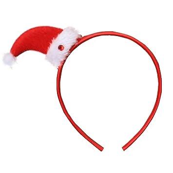 Girls Novelty Christmas Santa Hat Motif Alice Hair Band Headband ... b414012e257