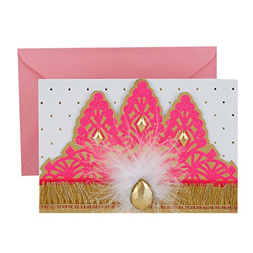 Hallmark Signature Birthday Greeting Card (Princess Crown) -