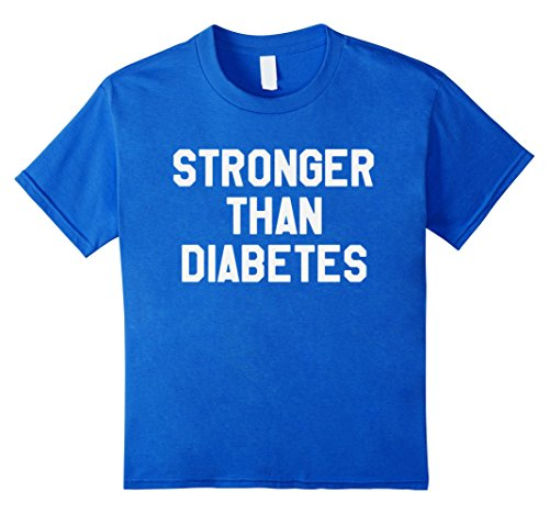Kids Stronger Than Diabetes Motivational T-Shirt For Diabetics 6 Royal Blue (2 Types Of People On Halloween)