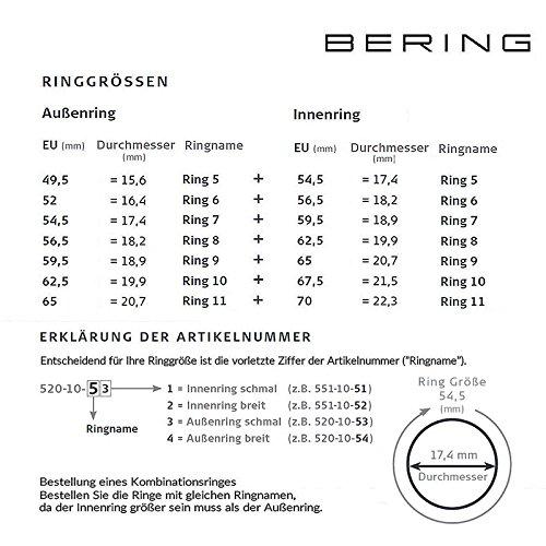 Bering kombinationsring acier inoxydable-céramique-oxyde de zirconium-rG 56,5 520–30–84 554–50–81 556–37–81 557–99–82
