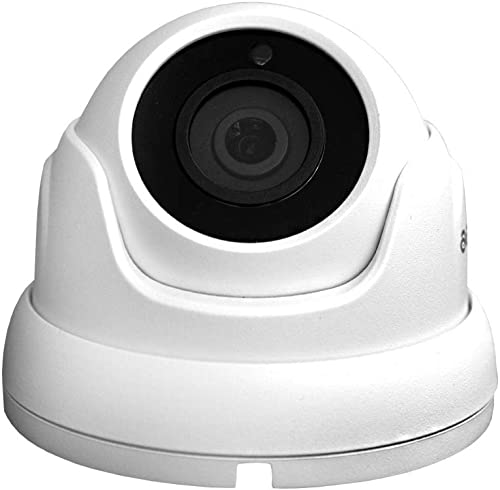 Analog Surveillance CCTV Security Camera 1080P Indoor Outdoor Waterproof Day Night Vision 2M 4-in-1 Full HD 65Ft IR Distance IR-Cut Dome, White