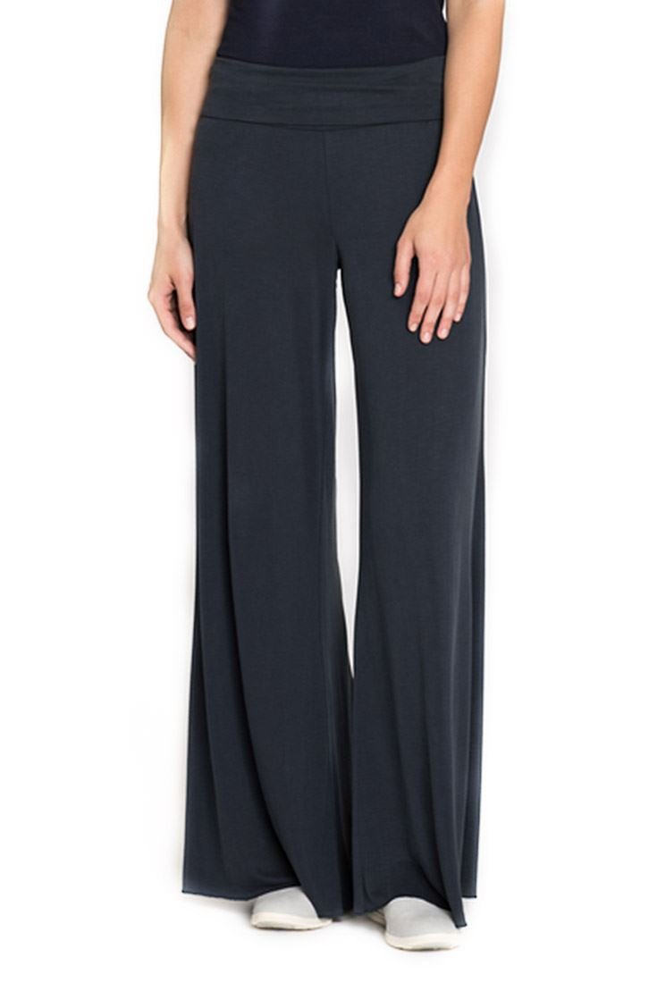 Nic+Zoe Women's Knit Wide Leg Seasonless Pant - Washed Midnight - XL
