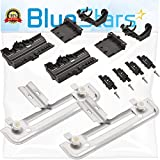 Ultra Durable W10712394 Dishwasher Rack Adjuster Kit Replacement Part by Blue Stars - Exact Fit For Whirlpool & Kenmore Dishwashers - Replaces W10238418 W10253546
