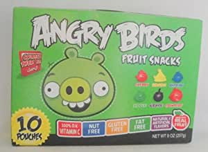 """""""Angry Birds"""" Fruit Snacks Green 9 Ounce Box (10 Pack)"""