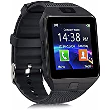 Bluetooth Smart Watch DZ09 - Aeifond Newest Touch Screen Smart Wrist Watch Smartwatch Phone With Camera Pedometer SIM TF Card Slot for iPhone IOS Samsung LG Android for Men Women Kids (Black)